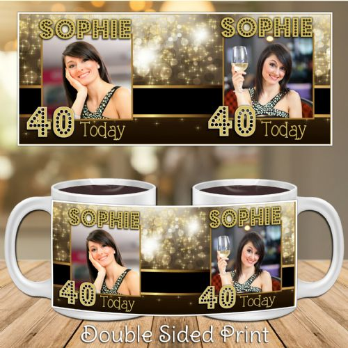 Personalised Happy Birthday PHOTO Gift Mug N7